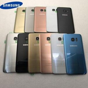 Image 2 - Carcasa trasera para Samsung Galaxy G930F, G935F, G930FD, G935FD, S7 Edge, cristal táctil