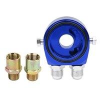 Car Universal Oil Filter Sandwich Adapter For Cooler Plate Kit AN10 Aluminum Oil Filters Part Provide