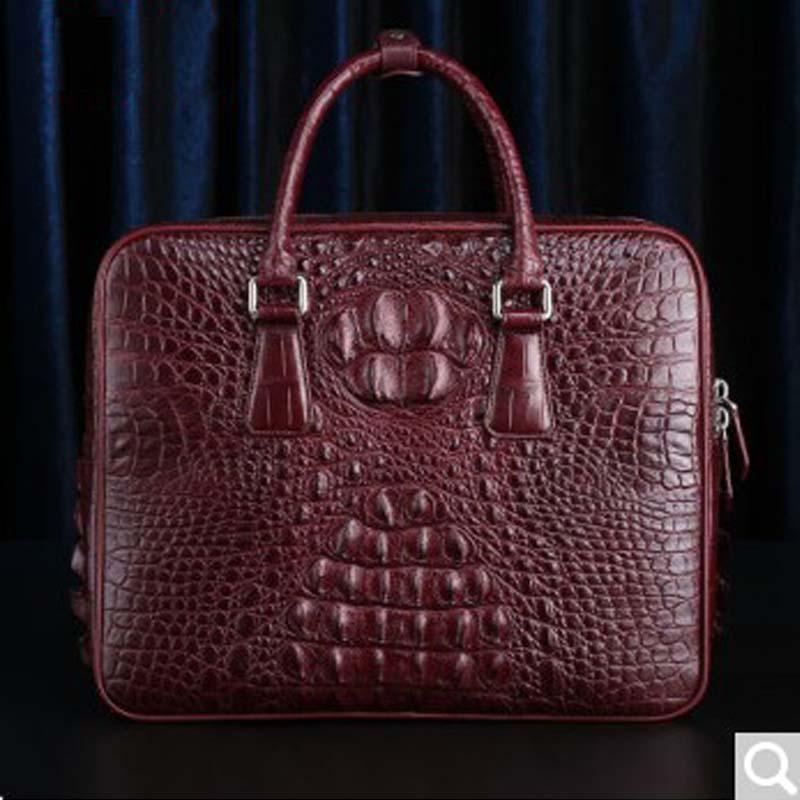 RVH Crocodile leather man bag briefcase handbags new business fashion handbag large capacity  man handbag black brown blue t