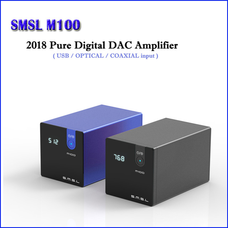 SMSL M100 HALLO FI USB DAC Decoder AK4452 Digital DAC Audio Amp DSD512 Verstärker Optische Koaxial Eingang 32bit/768 kHz