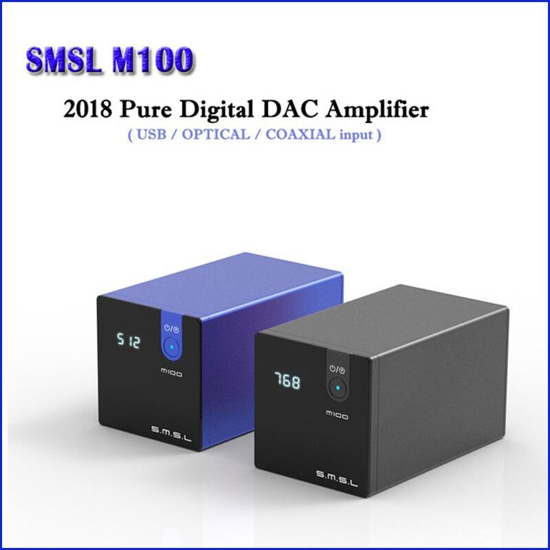 SMSL M100 HI FI USB DAC Decoder AK4452 Digitale DAC Audio Amp DSD512 Amplificatore Ottico Coassiale Ingresso 32bit/768 kHz
