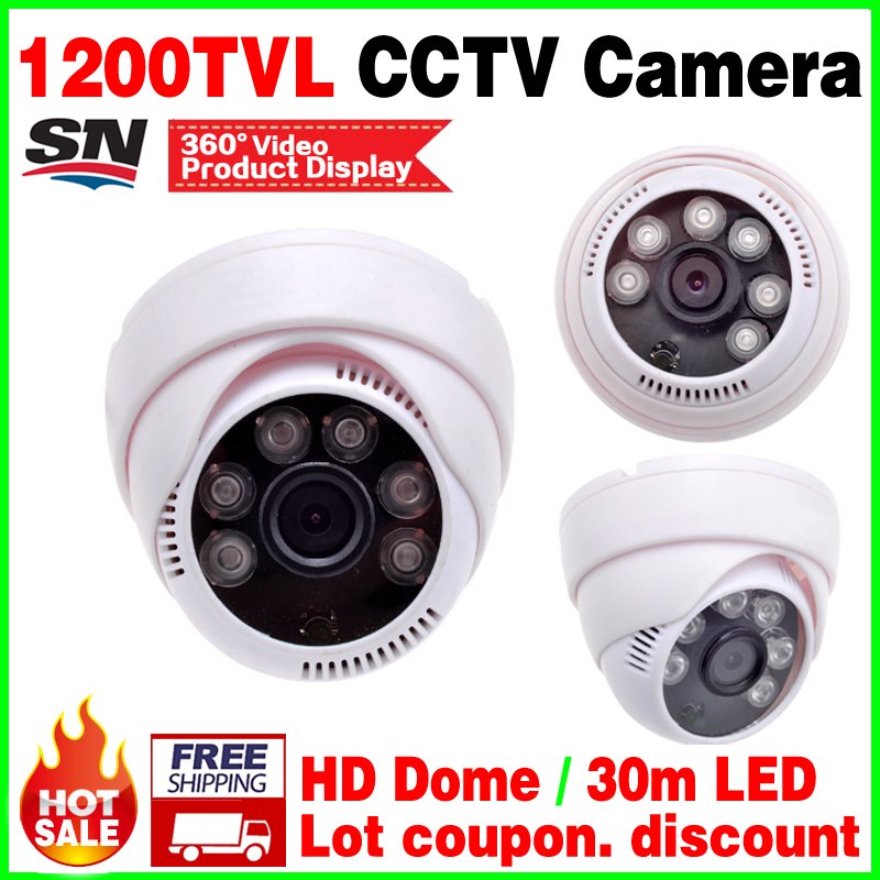 Bid discount!1/4Cmos 1200tvl indoor dome hd camera 3.6mm lens nano 6led infrared Night Vision home security Surveillance vidicon give 2a power hd 1 3sony effio e ccd 700vl security surveillance dome cctv camera osd meun blue 24led hd night vision vidicon