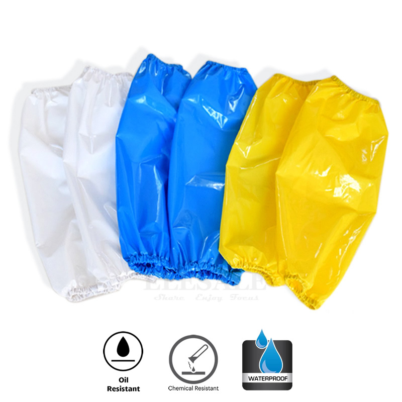 1Pcs Waterproof Oil-Resistant TPU Arm Sleeves Work Safety For Butcher Fisher House Clean Hands Protection Reusable Armband