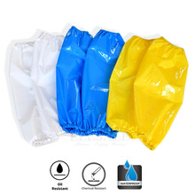 1Pcs Waterproof Oil Resistant TPU Arm Sleeves Work Safety For Butcher Fisher House Clean Hands Protection Reusable Armband