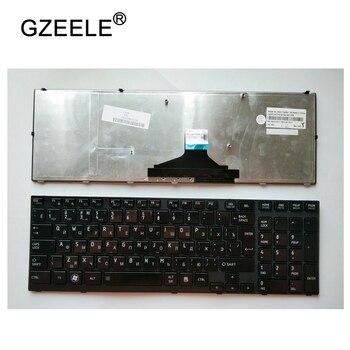 GZEELE para TOSHIBA Satellite A660 A600 A600D A665 9Z. N4YGC. 10 S 9Z. N4YGC. 11E 9Z. N4YGC. 12 M RU Russo do teclado do portátil preto