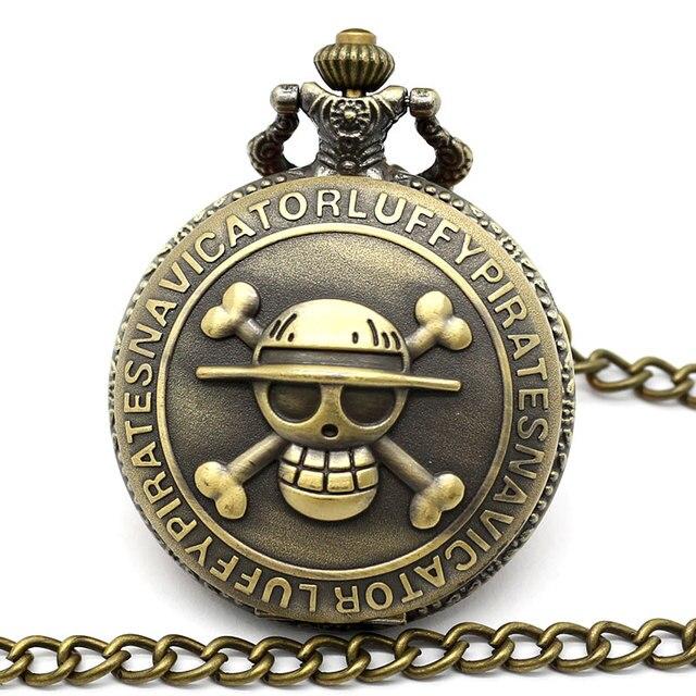 Skull One Piece Pocket Quartz Watch