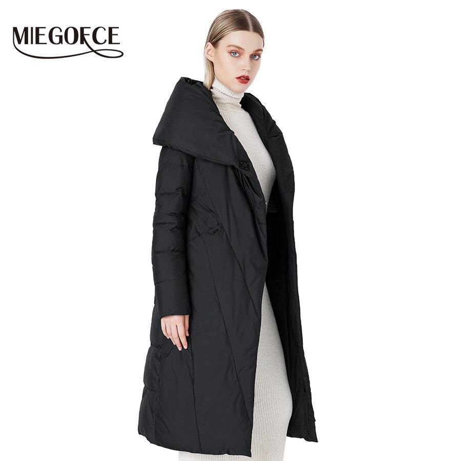 MIEGOFCE 2019 Winter Long Model Women's Jacket Coat Warm Fashion Women Parkas High-Quality Bio-Down Women Coat Brand New Design