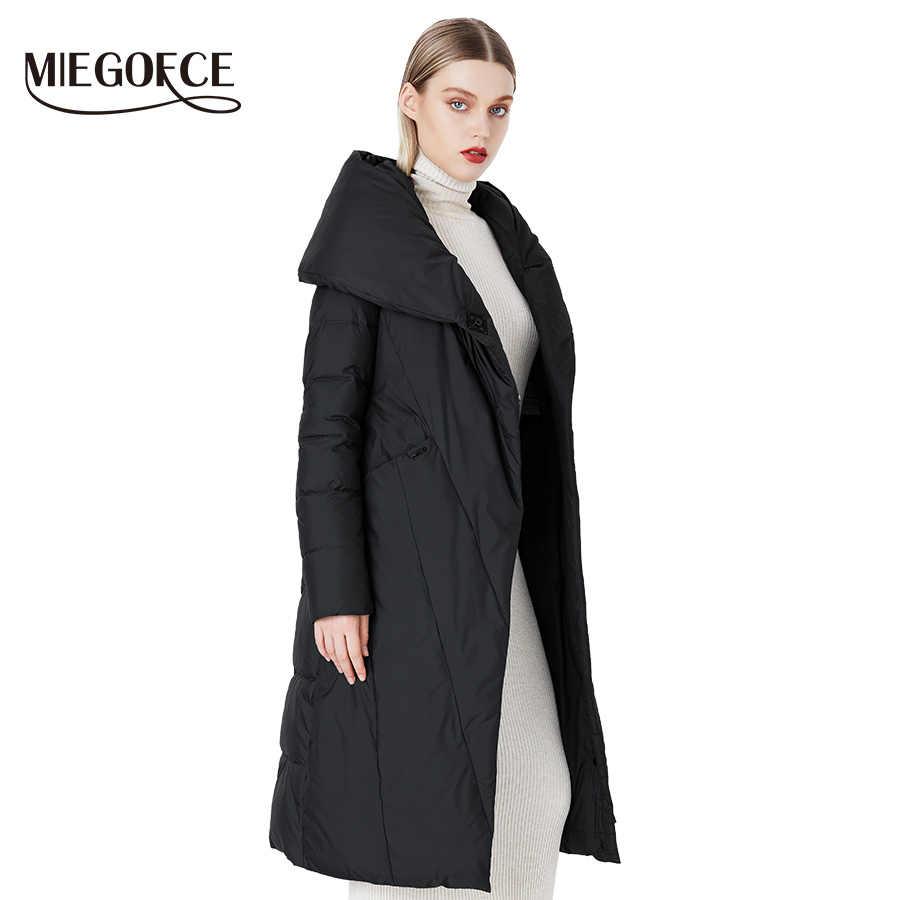 MIEGOFCE 2019 Длинный пуховик зимний женский теплая пальто для женщин модная женская парка высококачественный брэнд женских пуховиков новая коллеция от дизайнера