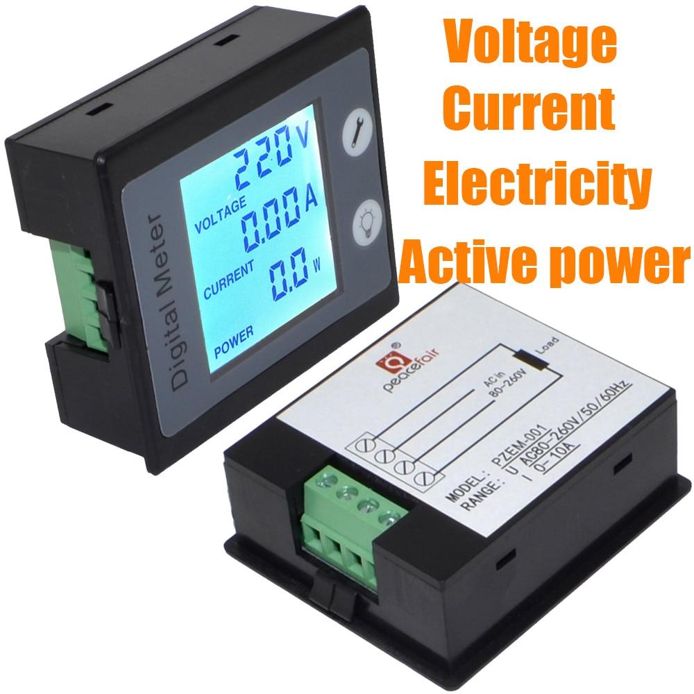 Digital Power Meter : Ac multi function digital meter power energy voltage