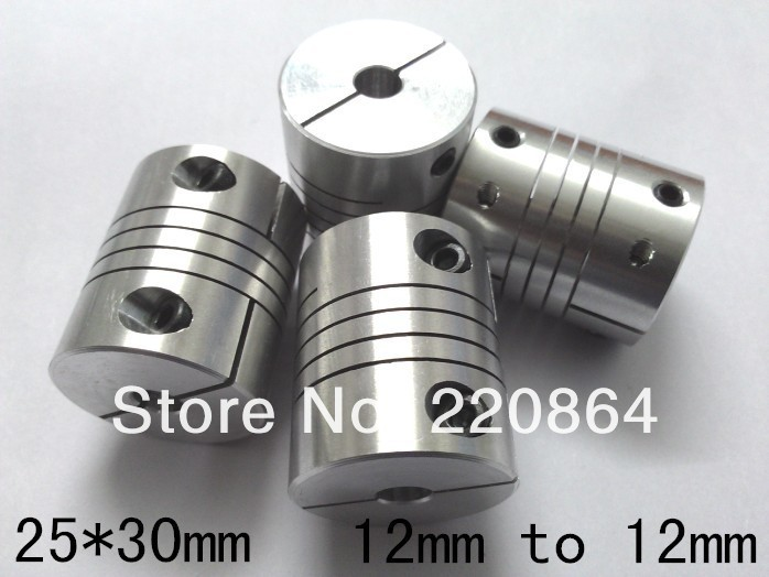 CNC Motor Jaw chain coupling 12mm to 12mm Flexible Coupler D25L30 for dc motor. free shipping oldham $ coupling flexible coupling motor coupling d25l30