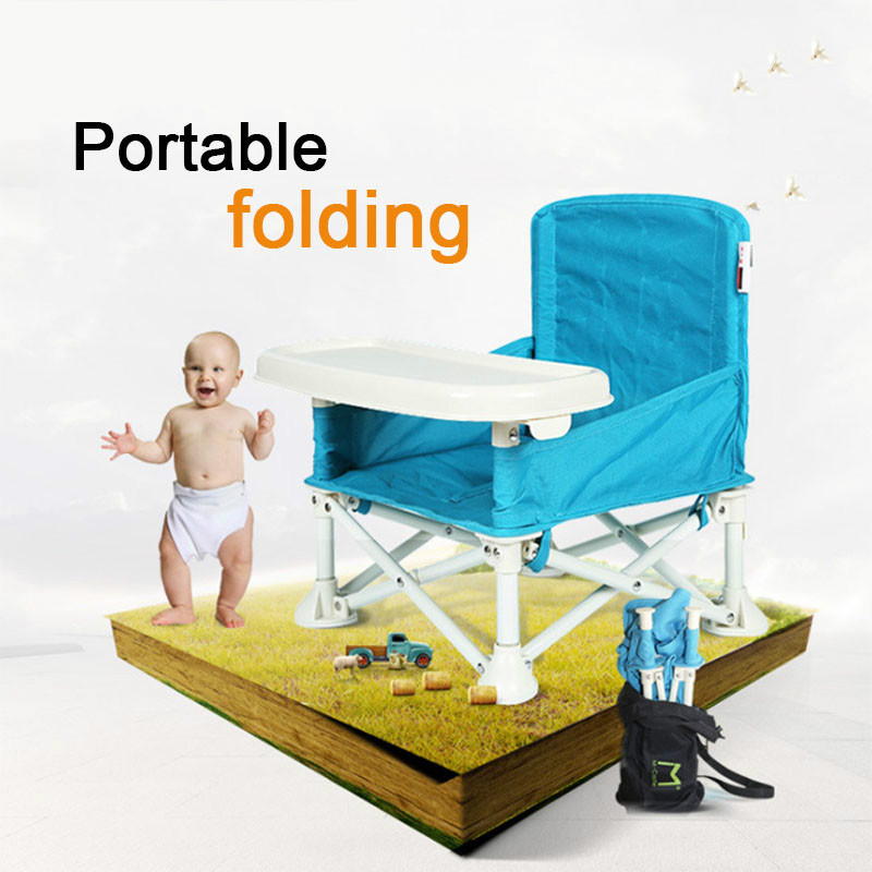 Kids Foldable Feeding High Chair Baby Outdoor Eating Dining Chair Multifunctional Portable Booster Safety Feeding Chair