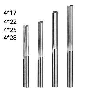 Image 5 - Doppel edged gerade slot fräser CNC maschine werkzeug 2 Flöte Fräser Hartmetall 4/6mm bits für Schneiden