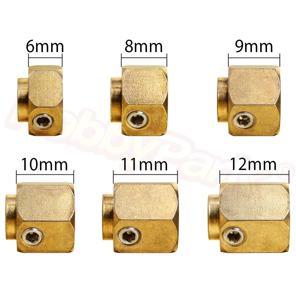 6/8/9/10/11/12mm Heavier Brass 12mm Hex <font><b>Wheel</b></font> Hub Extended Adapter For Traxxas TRX-4 <font><b>Scale</b></font> Trail Axial SCX10 RC 1/10 Crawler Car image