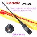 Алмазный RH701 SMA-Male Wide band антенна RH-701 Для портативной рации Yeasu Wouxun Tonfa TYT Baofeng Puxing PX-333 UV-985 ZT-2R