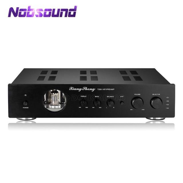 Nobsound Latest High End Vacuum 12AT7 12AU7 Tube Pre Amplifier Stereo Hi Fi Desktop Audio Preamp