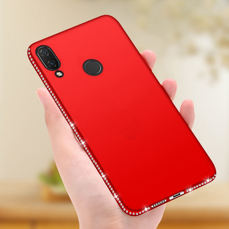 Rhinestone <font><b>Case</b></font> For <font><b>Huawei</b></font> Mate 10 20 Lite <font><b>P20</b></font> P30 Pro <font><b>Cases</b></font> <font><b>Diamond</b></font> Silicone Cover for Honor 8X 10 <font><b>Huawei</b></font> Nova 3i Soft <font><b>Cases</b></font> image