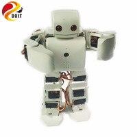 DOIT 18 DOF humanoid Biped Robot Educational Robot Kit Servo Bracket With 18pcs Servo for Dance/ Fighting by ESP8266 diy rc toy