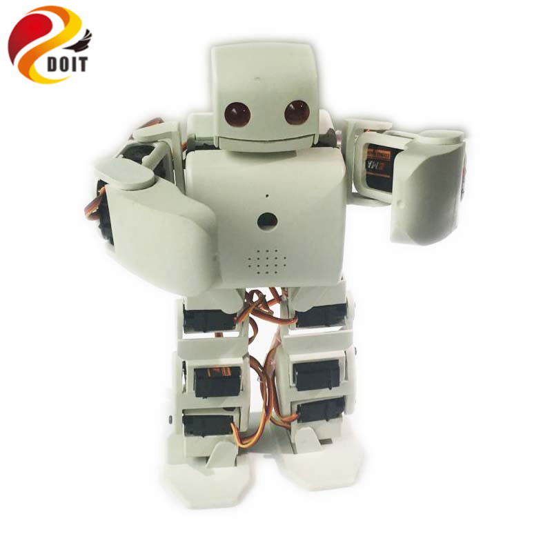 DOIT 18 DOF humanoid Biped Robot Educational Robot Kit Servo Bracket With 18pcs Servo for Dance/ Fighting by ESP8266 diy rc toy new 17 degrees of freedom humanoid biped robot teaching and research biped robot platform model no electronic control system