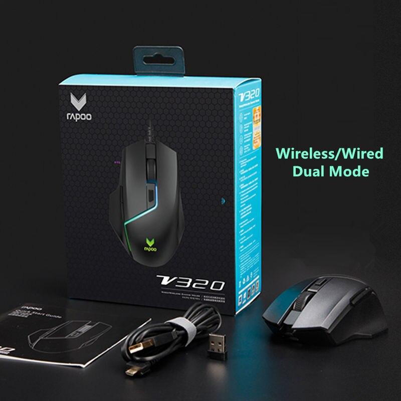 Rapoo double modèle souris de jeu sans fil 5000 DPI 7 boutons PUBG souris d'ordinateur souris pour FPS PC ordinateur portable Gamer - 6