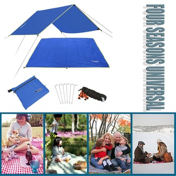 4-6 Persons Ultralight Multifunctional Waterproof Camping Mat Tent Tarp Footprint Ground Mat For Outdoor Camping Hiking Picnic 2