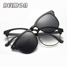 Optical Eyeglasses Frame Men Women Fashion Clip On Magnets Polarized Sungllasses Myopia Glasses Spectacle Frame For Male RS227