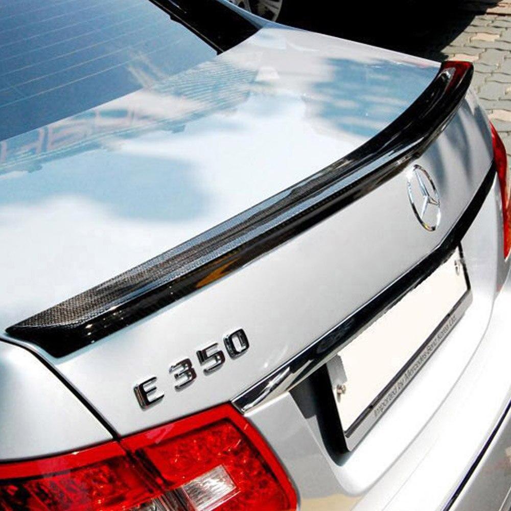 W212 Carbon Fiber Car styling Rear Trunk lip spoiler wing for Mercedes Benz 2009 2012