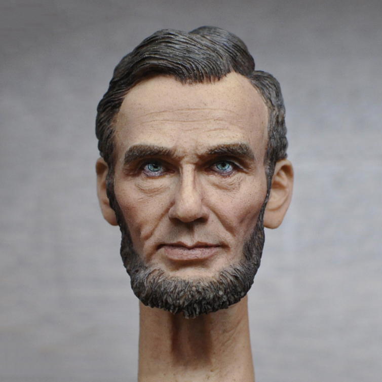 1/6 Male Head Sculpt America 19th President Abraham Lincoln Head Carving for 12 inches Figures Collections president lincoln ii asc mod
