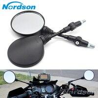 Custom Black Universal Folding Motorcycle Mirror Motorbike Side Mirrors Rearview Mirror M8 M10 For Yamaha Honda