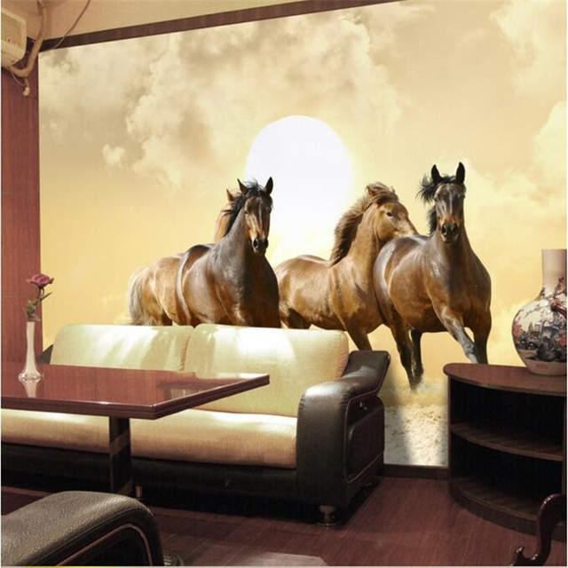 Beibehang Hohe Qualität Fototapete 3d Tanzen Pferd Hotel Schlafzimmer Wohnzimmer  Malerei Wand Tapete Papel De Parede