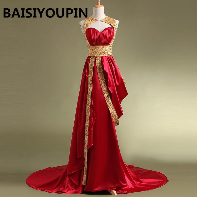 Robe De soirée musulmane 2019 Robe De soirée Courte ligne perlée longue Robe De soirée rouge Dubai robes De soirée