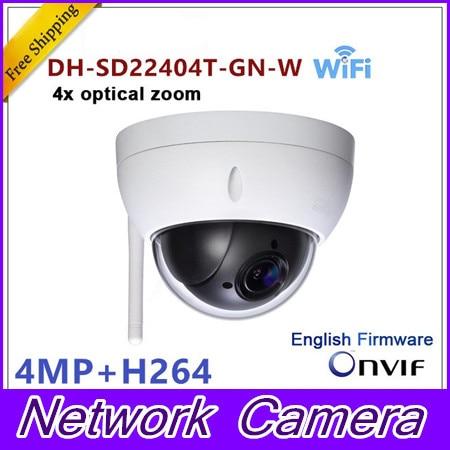 Original Brand Brand-SD22204T-GN-W WiFI IP 2MP HD Network Mini PTZ Dome 4x optical zoom POE wireless Camera SD22204T-GN-W original dahua 1080p mini ptz ip camera dh sd22204t gn 4x zoom hd network speed dome camera onvif sd22204t gn with power supply