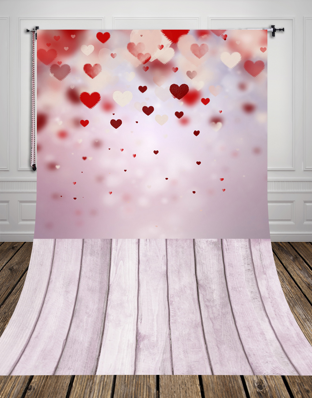 HUAYI Valentine's day photography backdrop thin Art Fabric newborn pet gift photography background 5x10ft D-9391