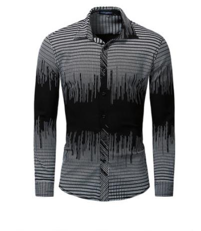 Men Printed Shirt 100% Cotton Long Sleeved Plaid Shirt Male Social Business Dress Shirt Male Leisure Shirts Fredd Marshall K1090 Excellent In Quality
