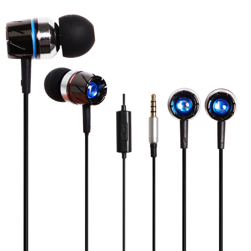 цена на TOP Quality Metal Bass Sound 3.5mm In Ear Earphone Earbuds High Grade With Mic For iPhone Samung Mp3 Samrtphone