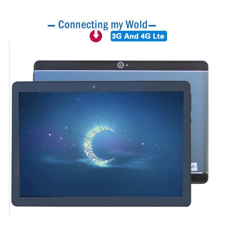 Nouveau tablette PC 10.1 pouces Android 8.0 tablette pc Ram 4 GB ROM 32 GB 64 GB Octa Core double SIM Bluetooth sans fil FM IPS téléphone MT8752