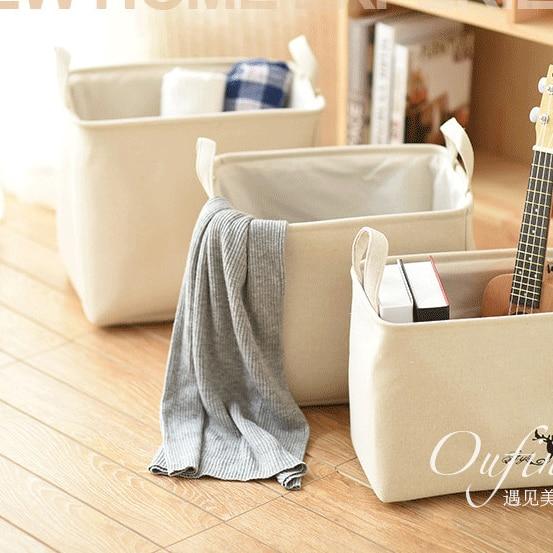 NOVINKY PRODUKTY lněná košová košová skládací skladovací koše sklad Prádlo organizátor Kulatý kontejner