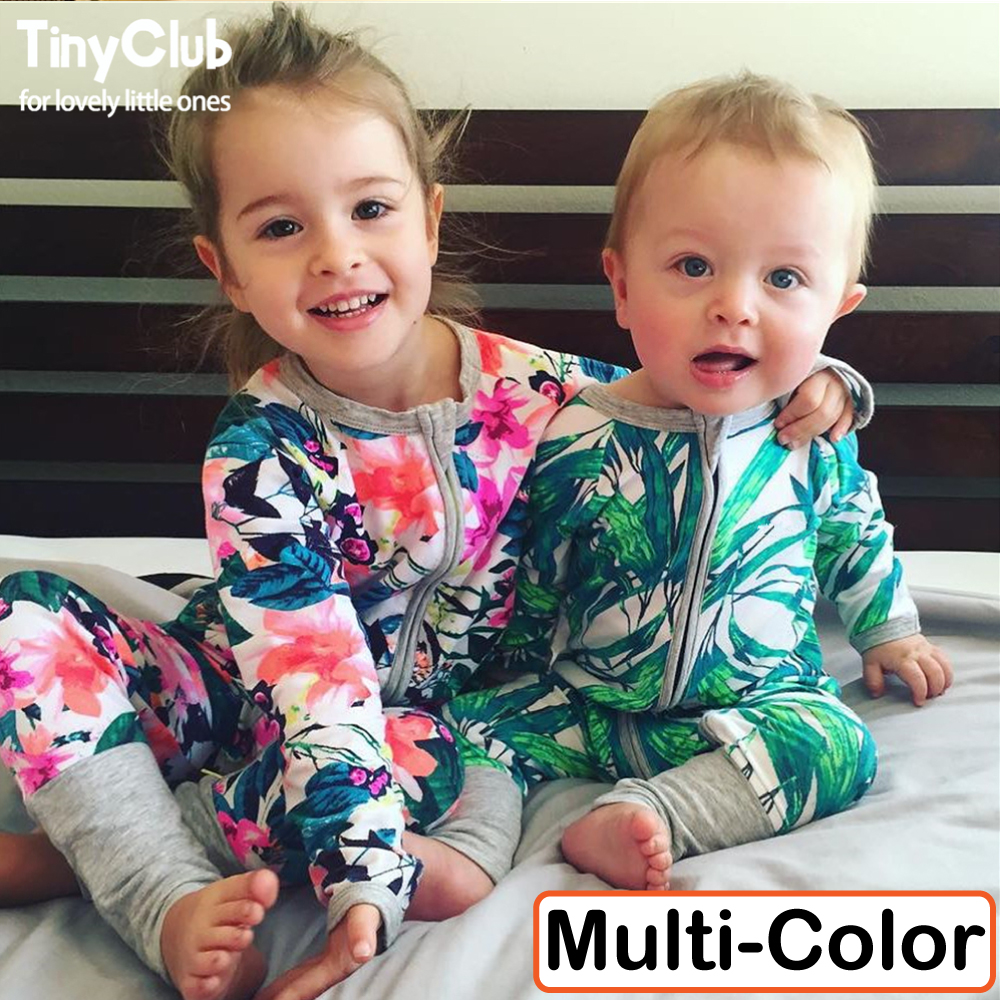Infant Jumpsuit Long Sleeves Floral Romper Baby Boy Girl Clothes Tiny Cottons New Born Toddler Onesie Overall Outfit Pajamas 2017 toddler kids infant baby clothes girl backless floral strap romper jumpsuit cute baby girl clothes baby onesie outfit