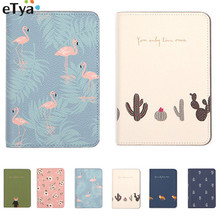 eTya Fresh Flower Animal Passport font b Holder b font Passport Cover Bags Travel Women Credit