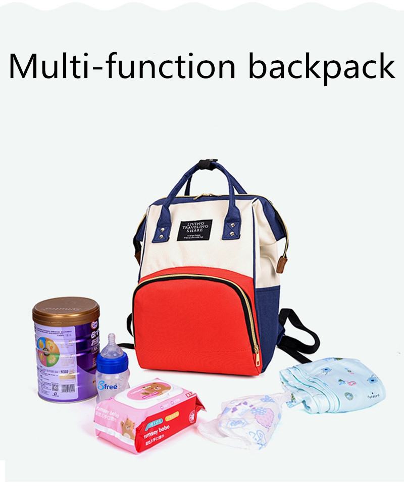 YOOAP Large capacity Mummy backpack multi functional maternal and child package mother with baby outdoor leisure travel bag in Diaper Bags from Mother Kids