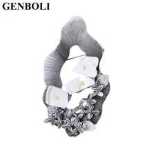GENBOLI European American Fashion Women Vintage Alloy Brooches Pins Flowers Decoration Wedding Party Dress Accessories Jewelry