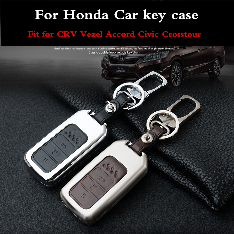 Leather Smart Key Chain Case Cover Fob For 2013~2014 HONDA ACCORD