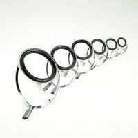 60pcs Guide Ring Fishing Rod Guides Repair Kit DIY Eye Rings 16# - 50# Casting Rod Line Ceramic Rings