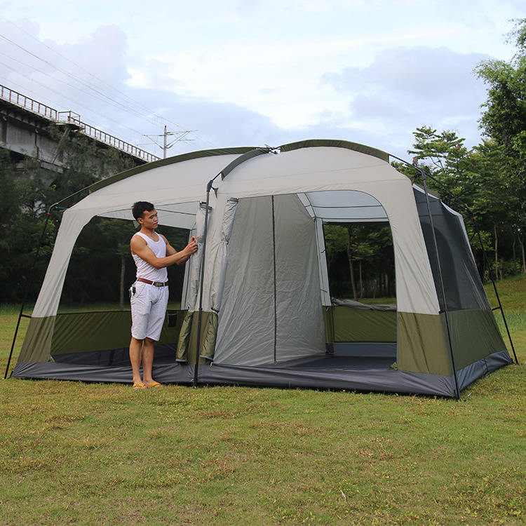 Super senior outdoor tents tall 10 12 Deluxe and spacious two bedroom double tent tents-in Tents from Sports u0026 Entertainment on Aliexpress.com | Alibaba ... & Super senior outdoor tents tall 10 12 Deluxe and spacious two ...