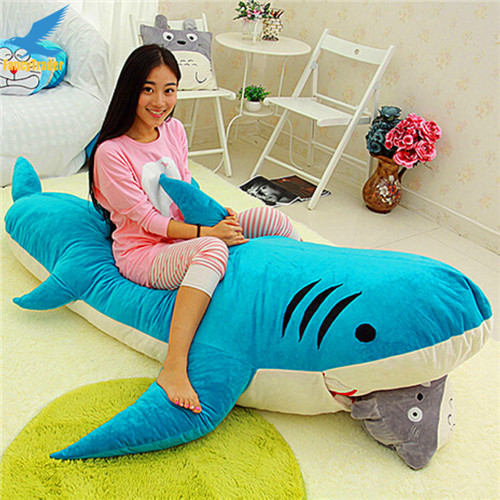 Fancytrader Huge Giant Shark Sleeping Bag Beanbag Sofa Bed Carpet Tatami Plush Stuffed 2 Colors FT90358 (4)