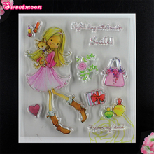Girls like to make up Scrapbook Clear Stamp photo cards account rubber stamp Embossing Folder card