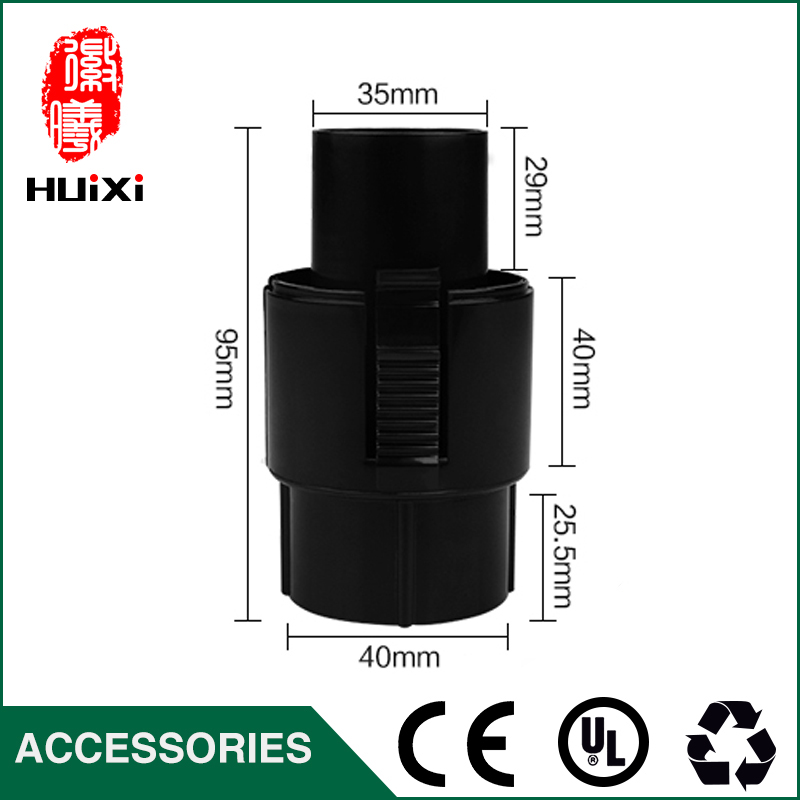 PP Plastic Vacuum cleaner Connector Outer diameter 35mm for inner Diameter 32mm Outer Diameter 39mm Hose Accessories vacuum cleaner pp plastic connector with good quality for accessories of idustrial vacuum cleaner