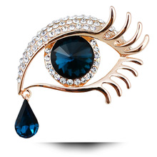 Devils Eye Brooch Black Blue Eyes Unique Clothing Accessories Fine Jewelry