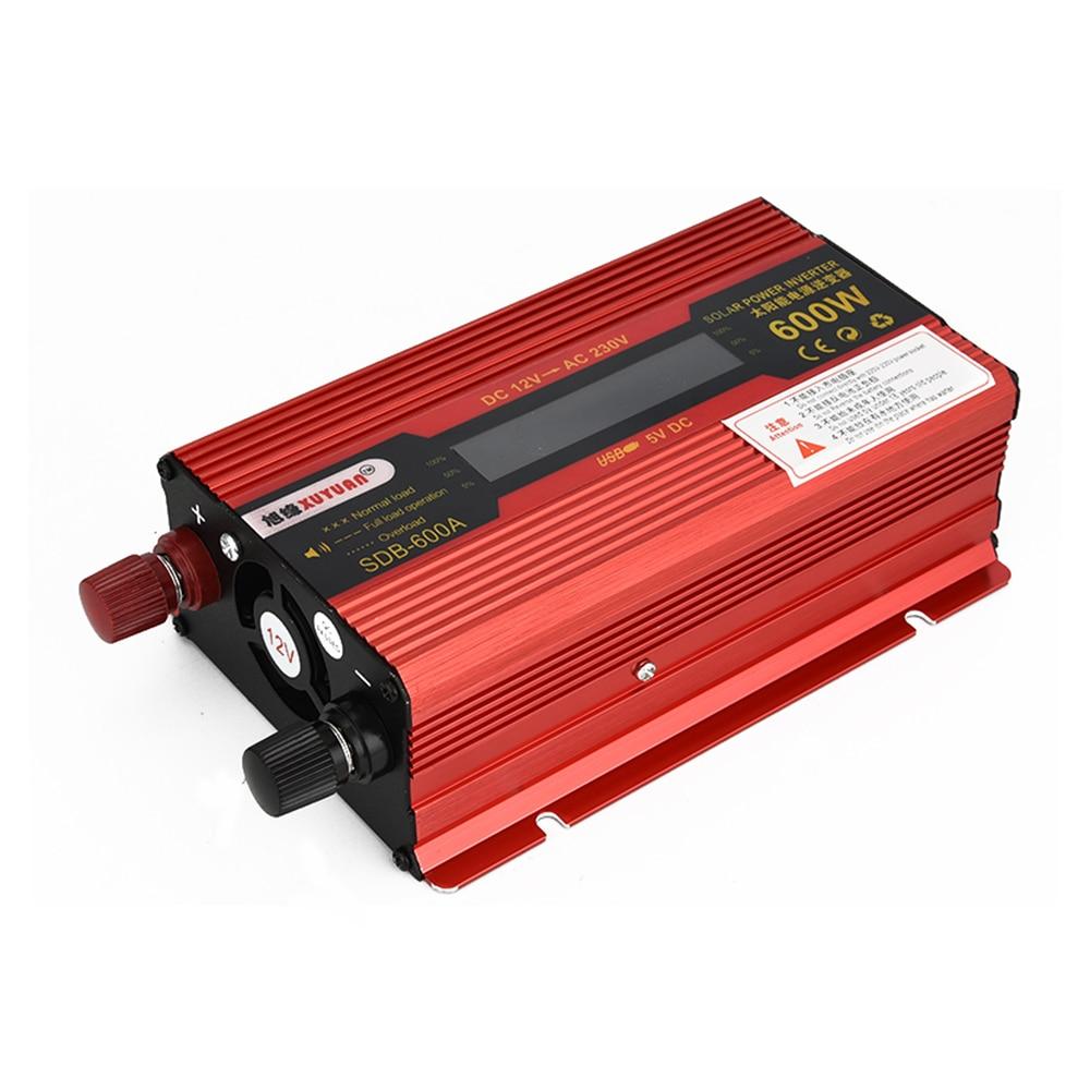 XUYUAN 600W DC 12V To AC 230V Solar Power Inverter Car Automotive Power Converter