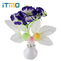 US Plug Luminaria Light Sensor Mushroom Flower Plant Home Bedroom Decoration LED Night Light Lamp Romantic