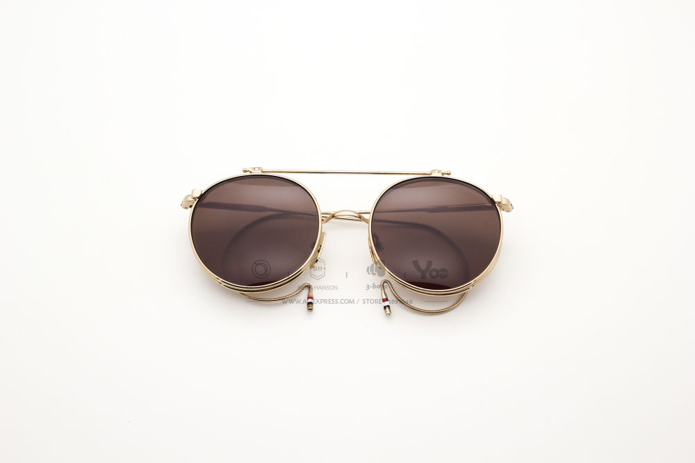 234746b2a68d Thom Browne Eyewear TB 001 Sunglasses retro flip sun glasses ...